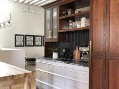 FIRESIDE OFFICE - HONED VISCON WHITE GRANITE